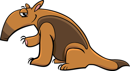 cartoon fairy: Cartoon Illustration of Tamandua Anteater Animal Character