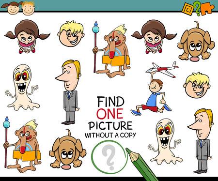 Illustration de bande dessinée de l'éducation Photo Recherche tâche pour enfants d'âge préscolaire