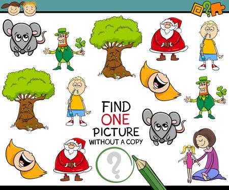 preschool children: Cartoon Illustration of Educational Task for Preschool Children Illustration