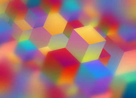 Abstract Geometric Colorful Decorative Modern Background for Design Stock Photo