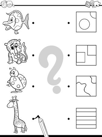 Ilustración De Dibujos Animados Blanco Y Negro De Educación Elemento ...