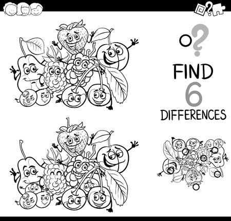 Schwarz Und Weiß Karikatur Illustration Den Unterschied ...