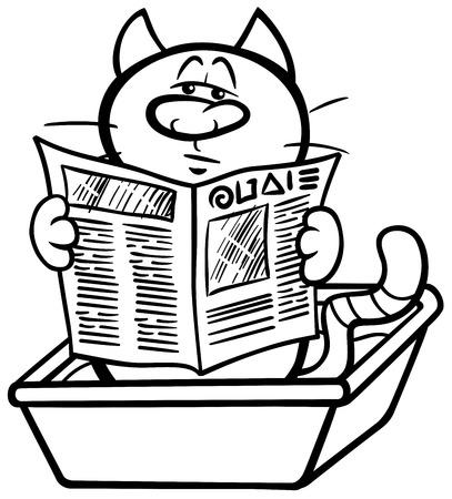 Ilustración De Dibujos Animados Blanco Y Negro Del Emperador ...