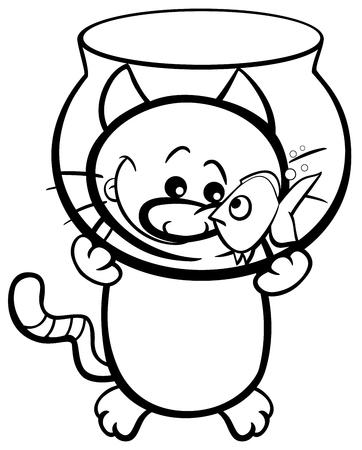 Maldición De Gato Negro Ilustraciones Vectoriales, Clip Art ...