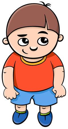 elementary age: Cartoon Illustration of Elementary School Age or Preschool Boy
