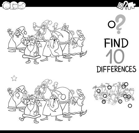 Ilustración De Dibujos Animados Blanco Y Negro De Encontrar ...