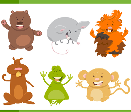 guinea pig: Cartoon Illustration of Cute Animal Characters Collection Illustration