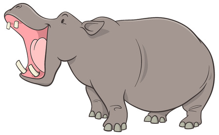 Ejemplo de dibujos animados de Hippopotamus Wild Animal Character
