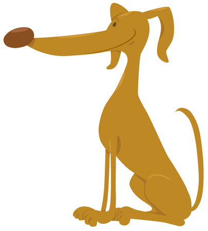 cute dog: Cartoon Illustration of Cute Comic Dog Animal Character Illustration