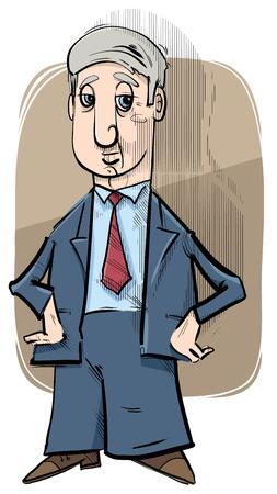 ilustración de dibujo de dibujos animados de hombre de negocios