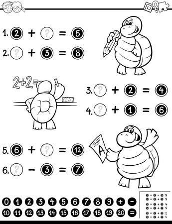 Ilustración De Dibujos Animados En Blanco Y Negro De La Hoja De ...