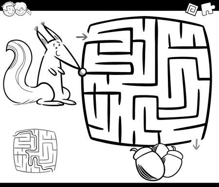 Ilustración De Dibujos Animados Blanco Y Negro De Educación ...