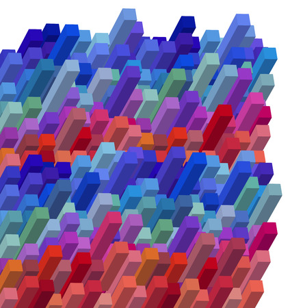dimensional: Graphic Illustration of 3D Abstract Colorful Cubical Background Design