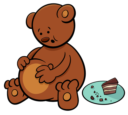 Cartoon Illustration of Little Bear Animal Character