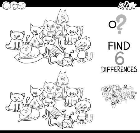 Ilustración De Dibujos Animados En Blanco Y Negro De Spot The ...