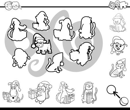 Ilustración De Dibujos Animados En Blanco Y Negro De La Actividad ...