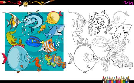 Ejemplo De La Historieta De La Actividad Del Libro De Colorear Del ...