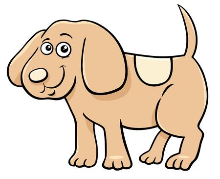 Cartoon Illustration of Cute Little Puppy Animal Character Illustration