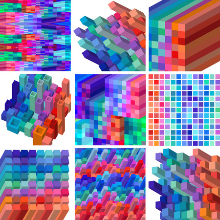 Vector Illustration of Three Dimensional Abstract Background Design