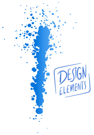 Vector Illustration of Abstract Dry Brush Painting or Splash Background and Design Element Çizim