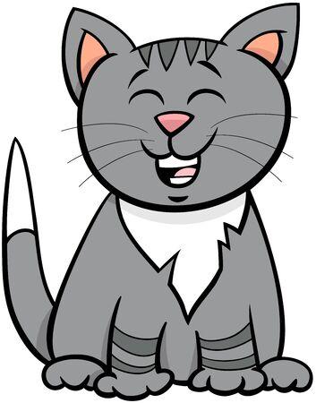 Cartoon Illustration of Cute Kitten or Cat Animal Character Illustration