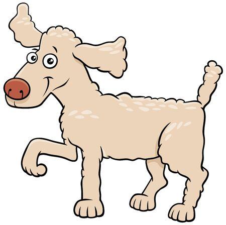 Cartoon Illustration of Funny Poodle Dog Comic Animal Character Ilustrace