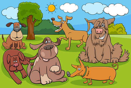 Cartoon Illustration of Dogs and Puppies Animal Characters Group Ilustrace