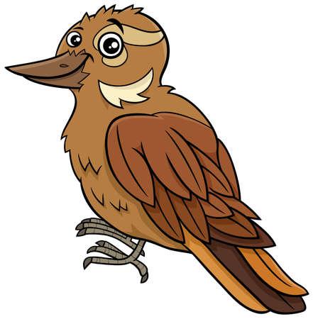 Cartoon illustration of funny xenops bird animal character Ilustrace