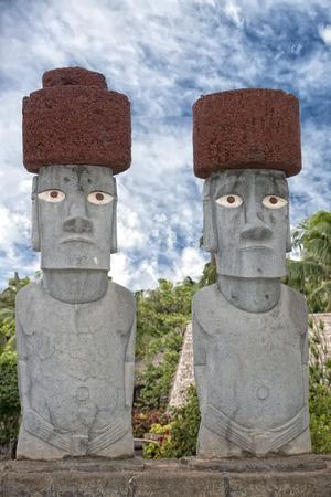 moai: Isla de Pascua estatua de piedra moai