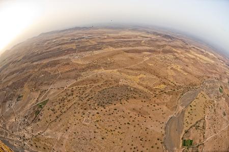 Maroc Marrakech desert aerial view from baloon photo