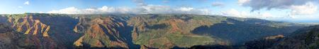 waimea canyon state park: view of Waimea Canyon in Hawaii