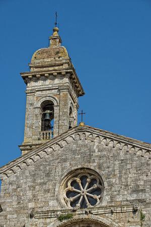 san quirico: Tuscany medieval san quirico church