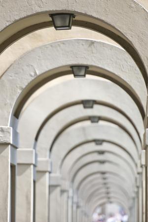 Florence Ponte Vecchio arches way view photo