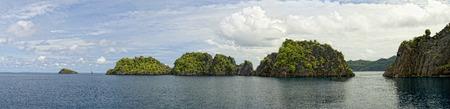 Tropical Paradise Raja Ampat Papua Indonesia panorama landscape