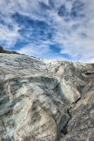 serac: Mendenhall Glacier near Juneau, Alaska Stock Photo