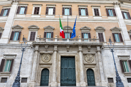 obelisco:  Palazzo Montecitorio is a palace in Rome and the seat of the Italian Chamber of Deputies