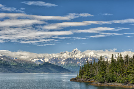 Glacier view in Alaska Prince William Sound Stock Photo
