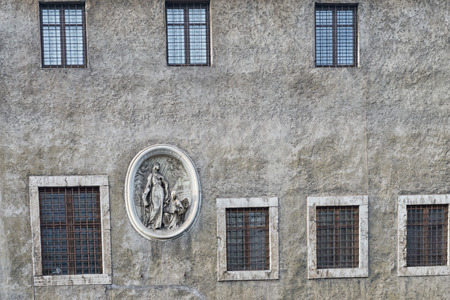 bas relief: Rome bas relief on ancient building Stock Photo