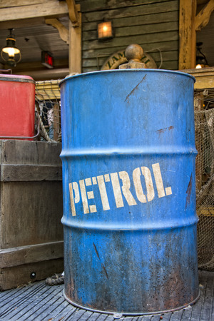 dirty oil petroleum barrel drum photo