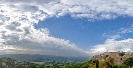 Umbria, Italia Todi enorme panorama