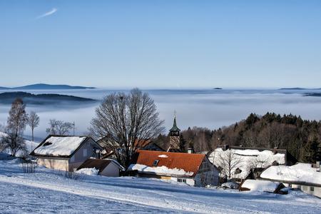 bavarian village in winter time photo