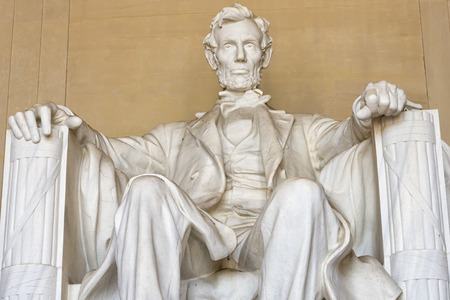 Abraham Lincoln statue at Washington DC Memorial photo