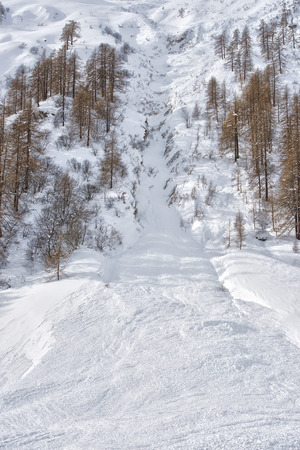 avalanche: big avalanche in alps mountains Stock Photo