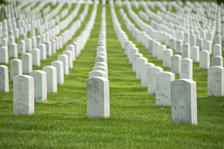 national historic site: arlington cemetery graveyard white tombstones