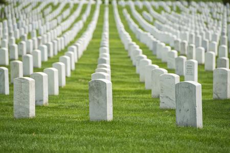 Begraafplaats Arlington kerkhof witte grafstenen