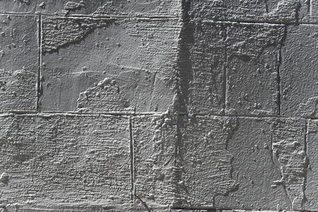 scraped: Old brick scraped wall in New York