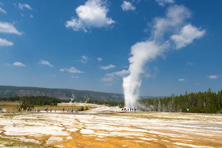 Yellowstone Geyser Old Faithful while erupting Imagens - 31622045