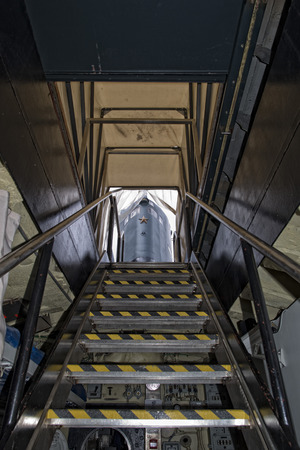 submarine exit ladder to exterior tower detail
