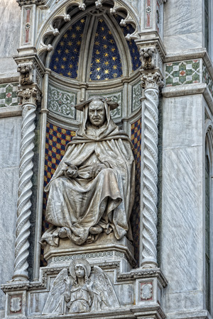 Detail of Cathedral Santa Maria del Fiore, Florence, Italy photo