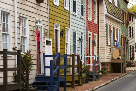 Annapolis Maryland old houses Imagens